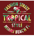 tropical style miami fashion street vector image