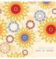 Warm vibrant floral abstract frame corner pattern vector image