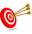 Arrows on target vector image vector image