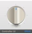 Control knob regulator vector image