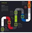timeline infographic Modern simple design vector image vector image