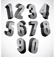 3d numbers set vector image