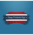 Happy Presidents Day realistic patriotic Banner vector image
