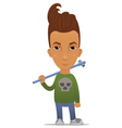 Cartoon hooligan with a pipe vector image