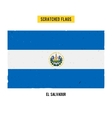 Salvadoran grunge flag vector image