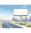 Blank advertising highway billboard and urban vector image