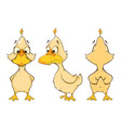 Cartoon character cute duck for computer game vector image