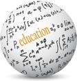 education communication world vector image