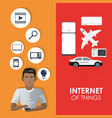 internet of things concept connection elements vector image