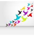 Origami bird flying vector image