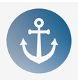 Pirate or sea icon anchor Flat style vector image