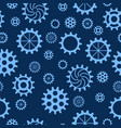 seamless pattern with gears of different sizes and vector image