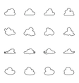 Set of different images clouds vector image
