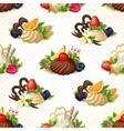 Sweets seamless background vector image