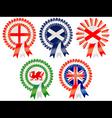 united kingdom rosettes vector image