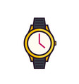 watch icon on white vector image