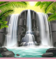 waterfall realistic background vector image