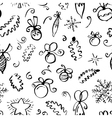 winter seamless pattern with abstract swirl vector image