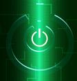 Digital Turn On Symbol vector image vector image