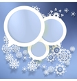 Elegant Christmas banners with snowlakes vector image
