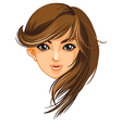 A pretty face of a woman vector image