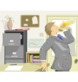 office drinker vector image