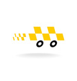 Taxi logo Checkers symbol Moving dynamic auto car vector image