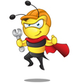 Super Bee Holding Spanner vector image