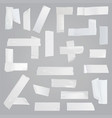 adhesive tape various pieces realistic set vector image