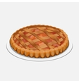 Apple strudel pie-like dish made with dough vector image