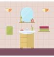Element of the interior bathroom vector image