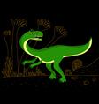 green carnivore dinosaur vector image