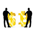 man relying on money vector image