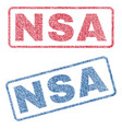 nsa textile stamps vector image