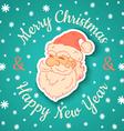 Santa retro and snow vector image