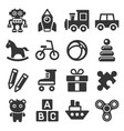 toys icons set on white background vector image