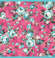 vintage chintz roses seamless pattern vector image