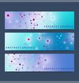 modern scientific set of banners geometric vector image