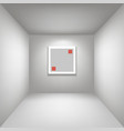 white gallery room background in perspective whith vector image