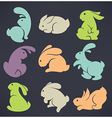 large rabbit collection vector image vector image