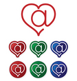 email heart symbols vector image vector image
