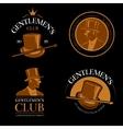 Elite mens club vintage labels vector image vector image