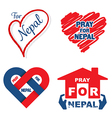pray for Nepal banner set vector image vector image