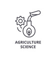 agriculture science line icon outline sign vector image