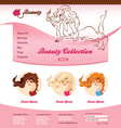 Design for beauty web site vector image