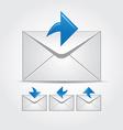 Envelopes multiple colors web icons vector image