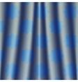 fabric deep blue metallic colored night curtain vector image