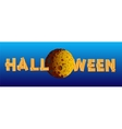 Halloween Moon Banner vector image