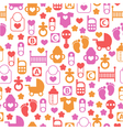 seamless baby pattern endless background vector image