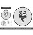 Twenty four hours line icon vector image